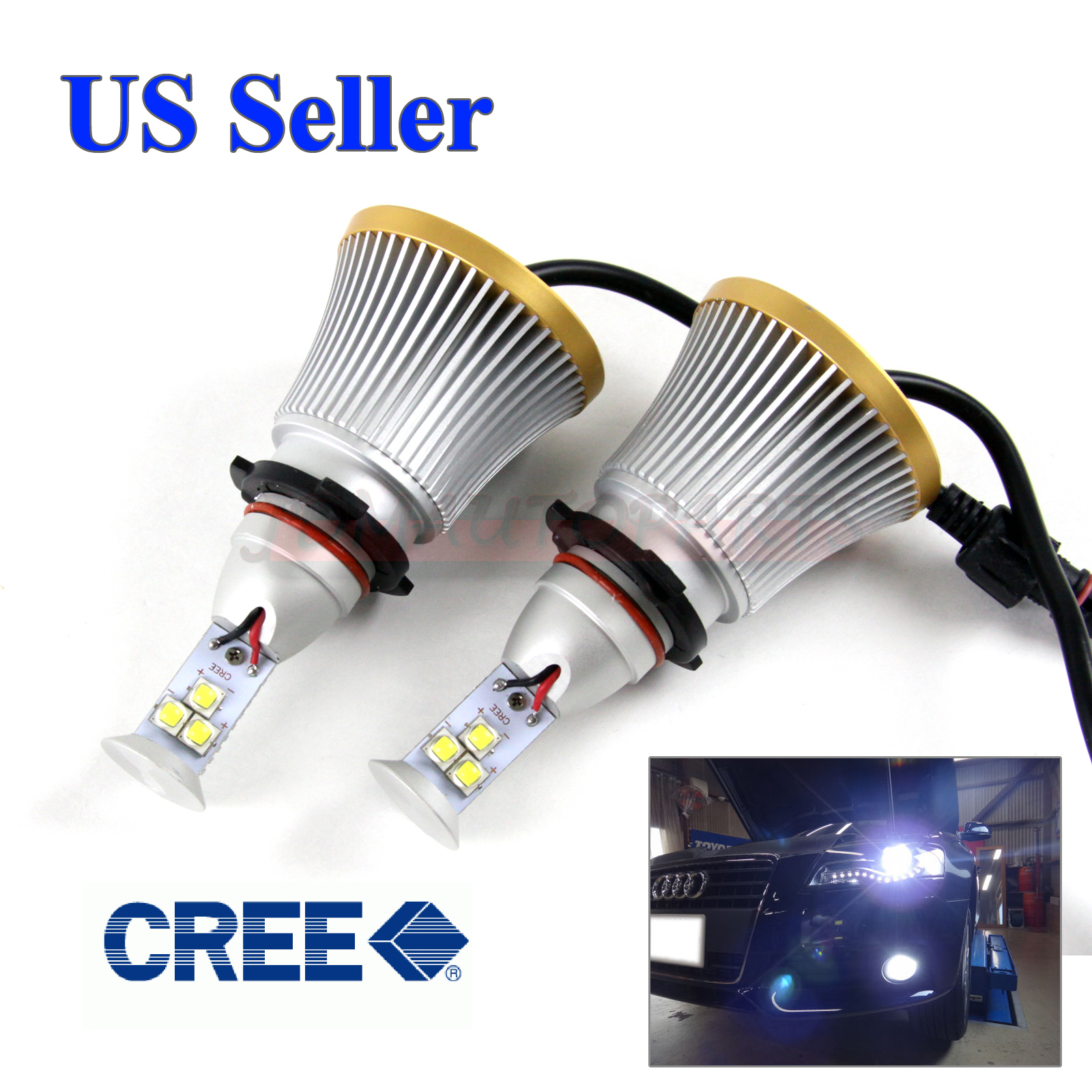 6000 lumen 9005 hb3 60w cree xm l2 led high beam lights bulbs canbus 6000k white ebay. Black Bedroom Furniture Sets. Home Design Ideas