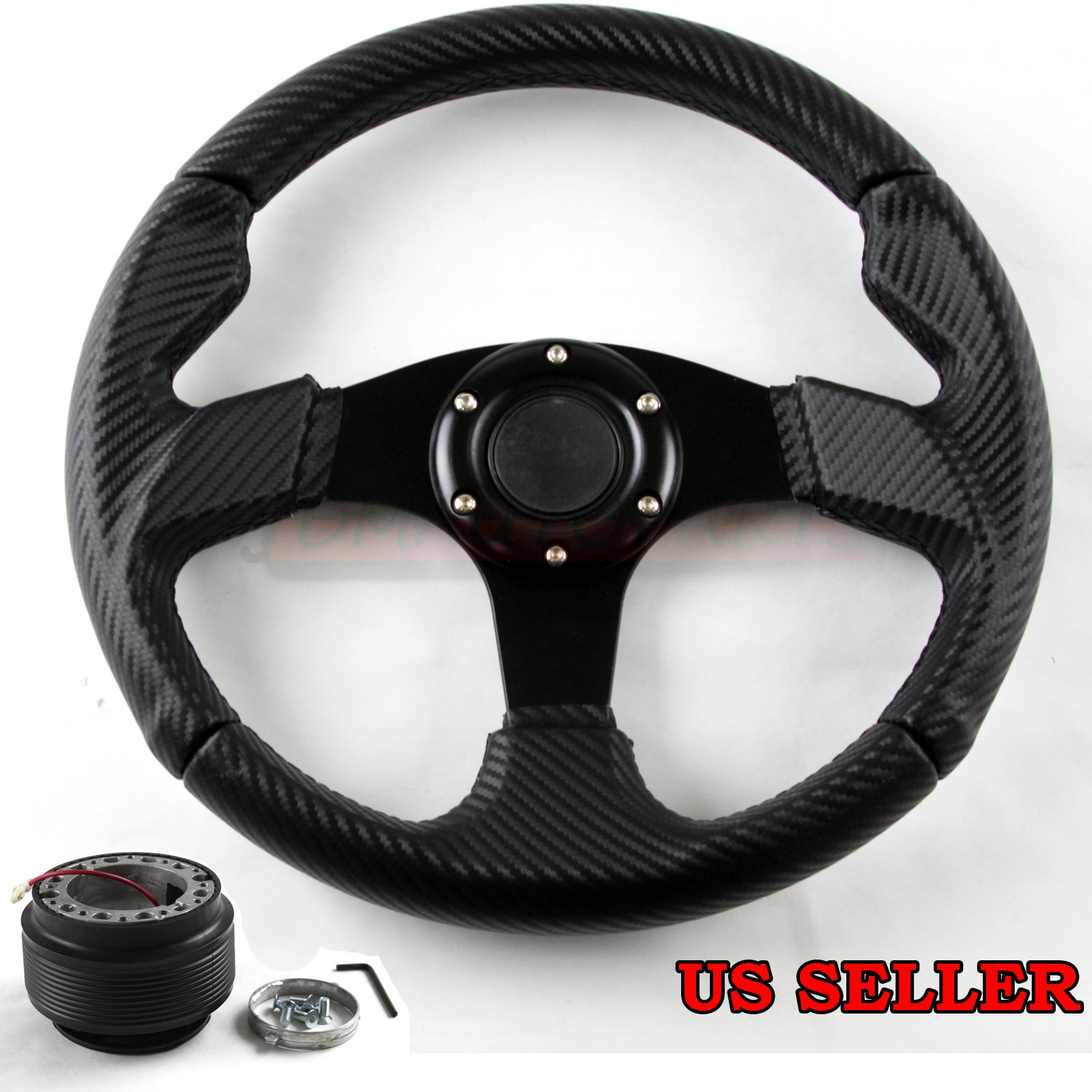 FOR 91-96 TOYOTA LAND CRUISER 320MM CF PATTERN PVC STEERING WHEEL + ...