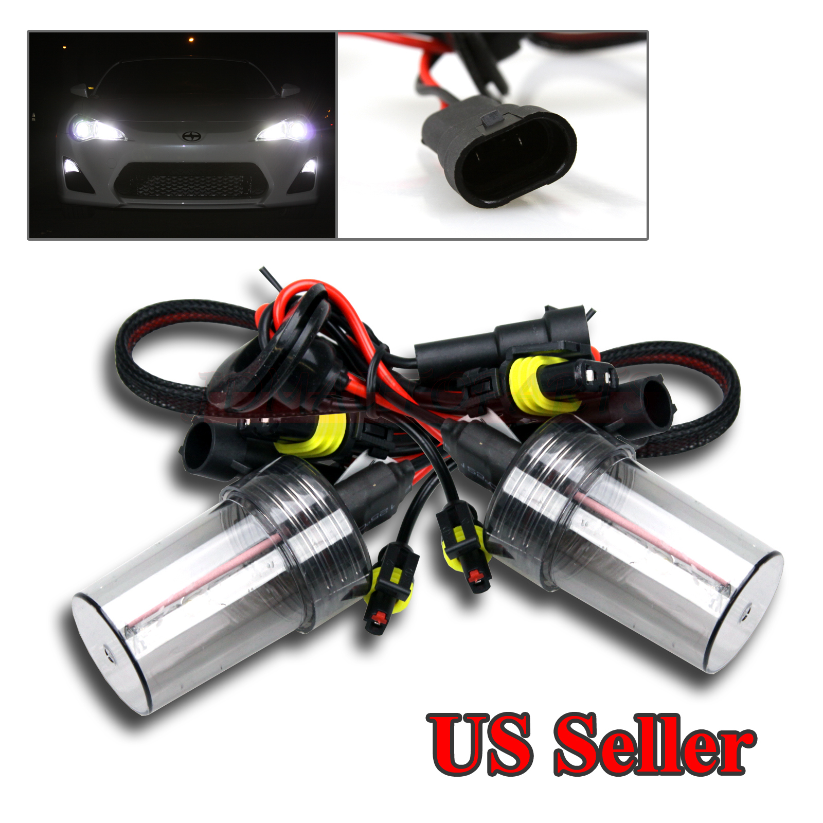 Details About 2 X HID REPLACEMENT AC BULBS FOR LOW BEAM 9006 HB4 6000K 55W PURE WHITE NEW JDM