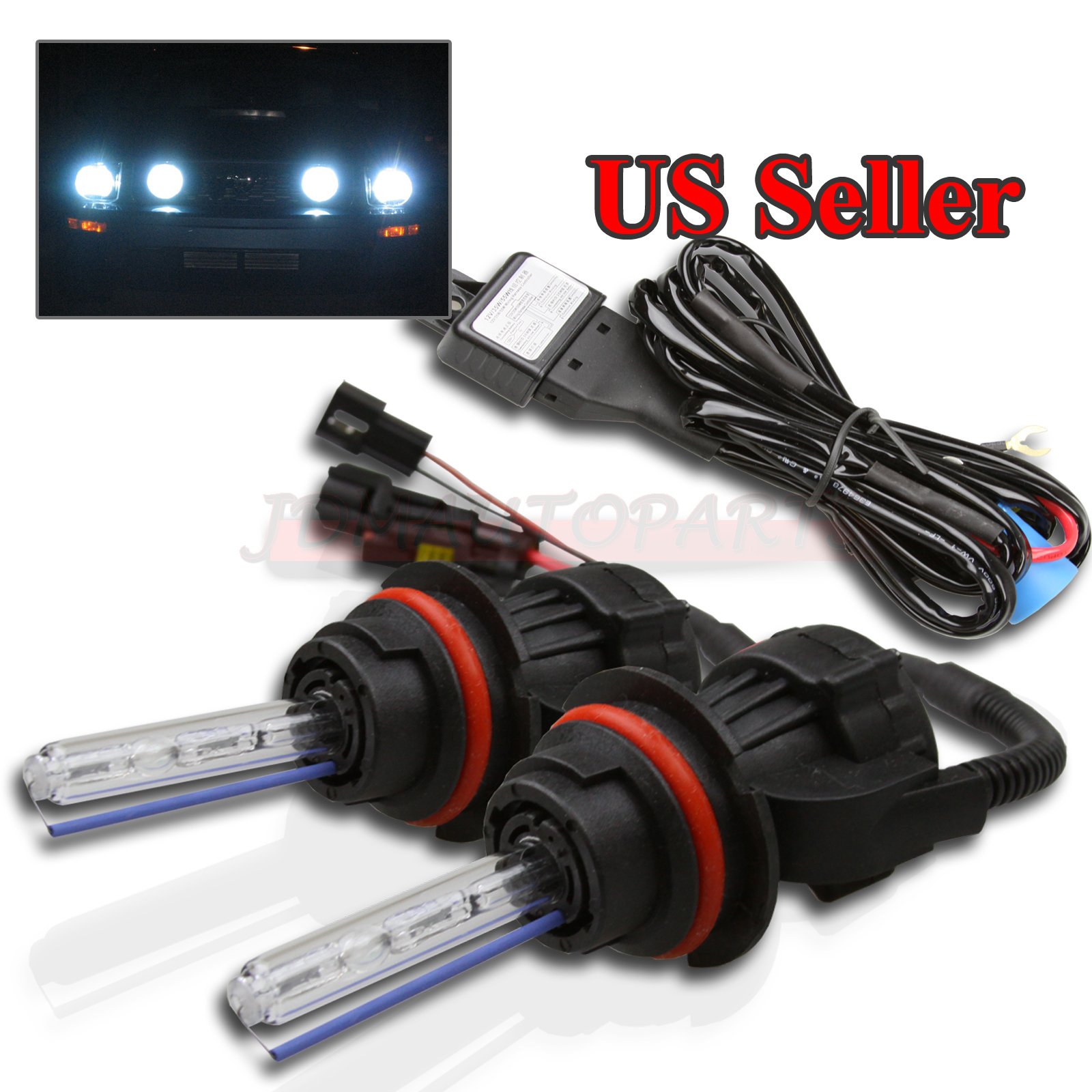 Details About 2 X 9007 Headlight 8000k Ice Blue Dual Beam 55w Hid Bi Xenon Bulbs Relay Harness Conversion Wiring Diagram Categories